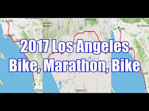 2017 Los Angeles: Bike, Marathon, Bike Challenge