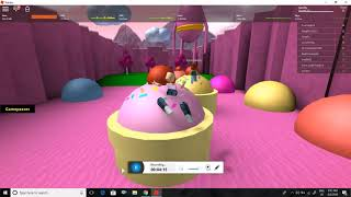 trying out candy land obby in roblox