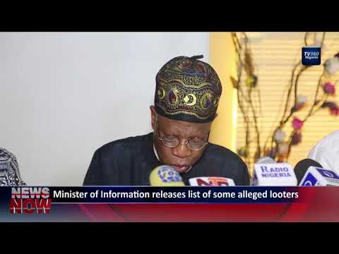 Minister of information releases list of some alleged looters
