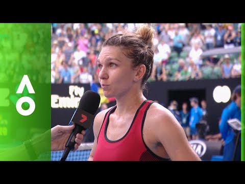 Simona Halep on court interview (SF) | Australian Open 2018