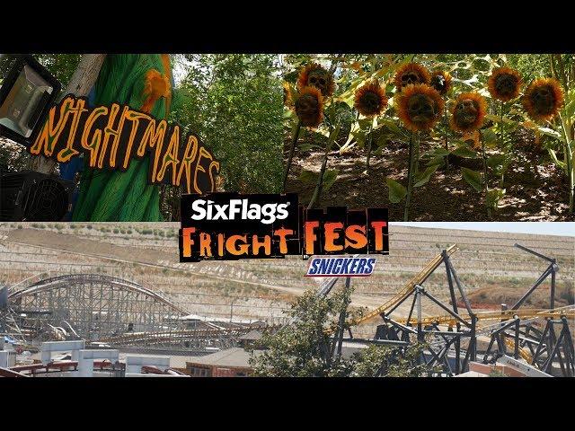 NEW Maze Construction Update! (Six Flags Fright Fest, West Coast Racers)