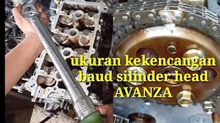Mengencangkan baud silinder head Avanza dan cara pasang timing chain