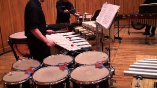 Clocks in Motion - Percussion Quartet Mvmt. 2 - Charles Wuorinen