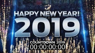 New Years Eve 2019 - Year In Review 2018 Mega Mix COUNTDOWN VIDEO for DJs