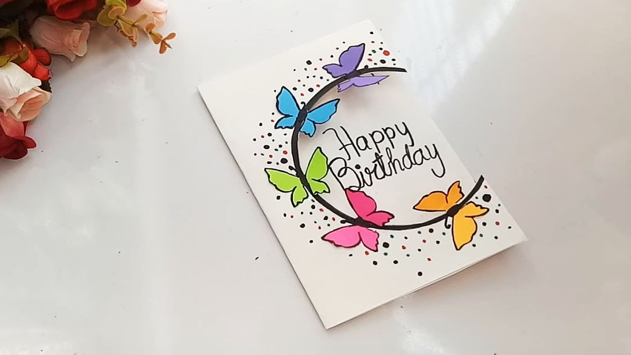 How To Make Special Butterfly Birthday Card For Best Friend Diy Gift Idea Youtube