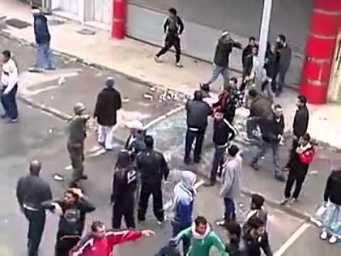 Tunisian Revolt (raw footage)