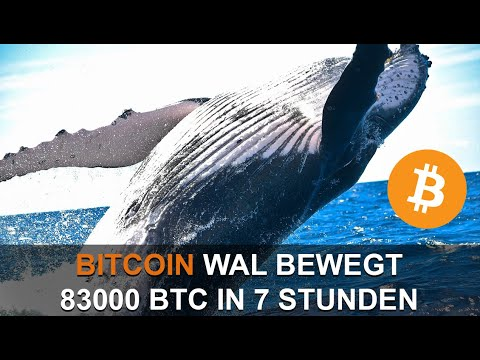 BITCOIN WAL BEWEGT 83,000 BTC IN 7H (870 MIO USD)