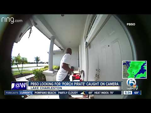 'Porch pirate' caught on camera in Lake Charleston