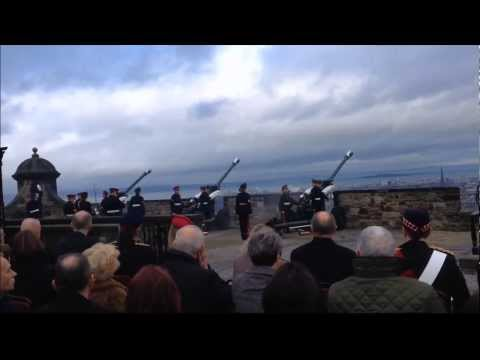 21 Gun Salute at Edinburgh Castle