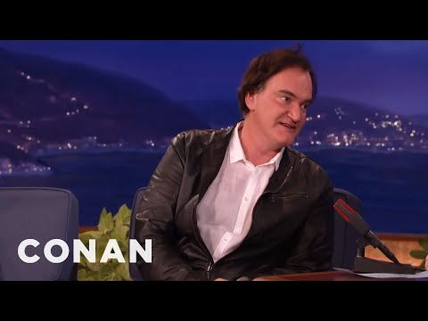Quentin Tarantino Punishes Napping Actors With A Big Purple Dildo  - CONAN on TBS