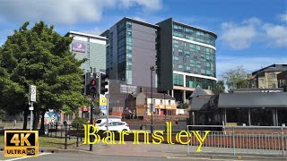 Walking Tour Barnsley Town Centre Just After Easing COVID-19 Lock-down in 4K