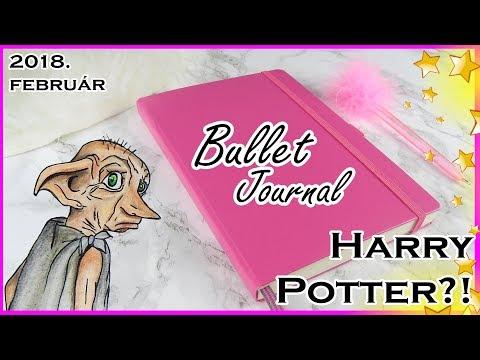 BULLET JOURNAL (MAGYAR) #2 | HARRY POTTER stílusban! 2018. FEBRUÁR DIY | ESZTERGÁLYOS VIKTÓRIA