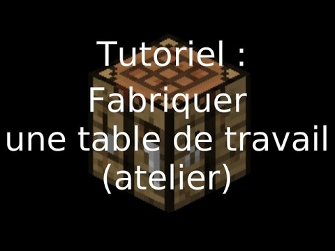 xzshadowien minecraft comment faire une table de travail atelier youtube. Black Bedroom Furniture Sets. Home Design Ideas