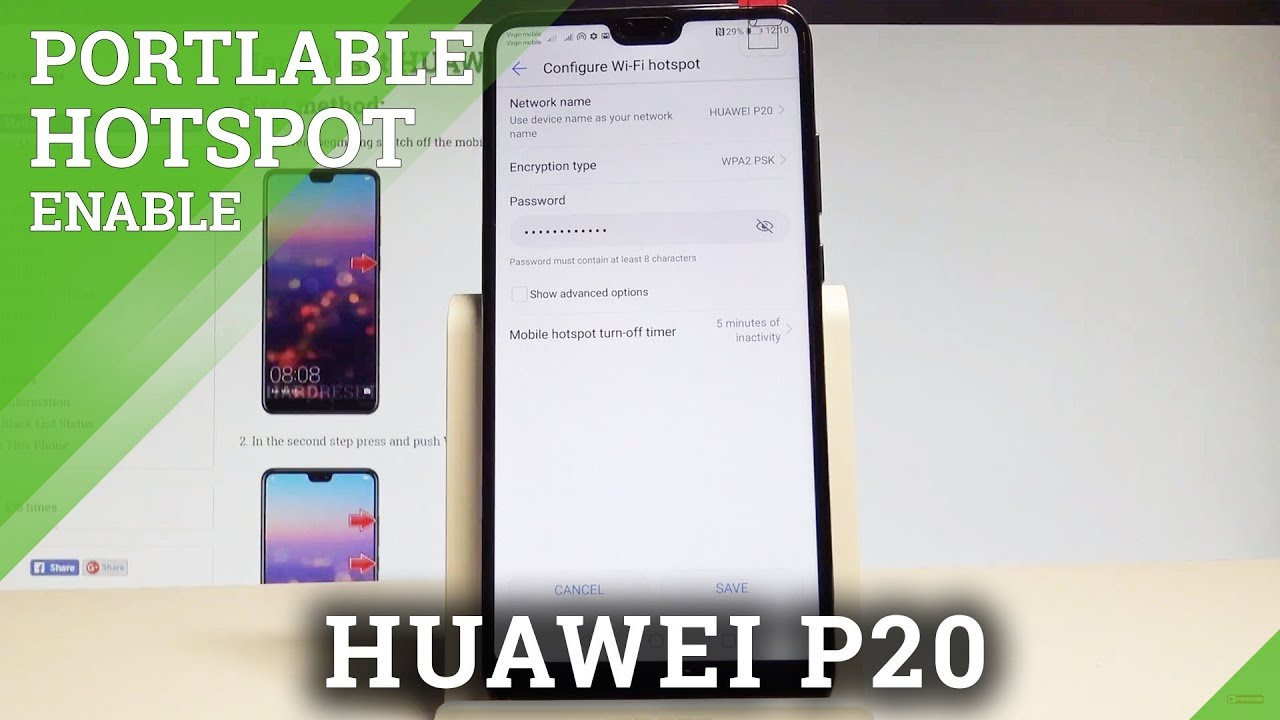 How to Enable Portable Hotspot in HUAWEI P20 - Wi-Fi Sharing HUAWEI P20  |HardReset Info