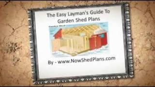 Garden Shed Plans - The Secrets