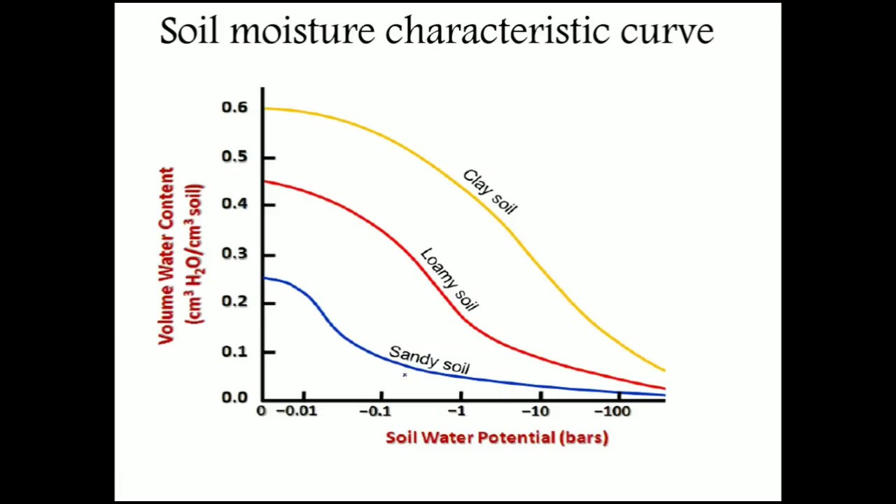 soil water potential and soil moisture characteristics curve