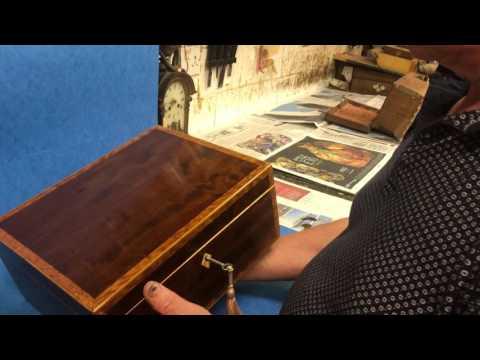 Antique Mahogany Jewellery Box