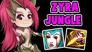 ZYRA JUNGLE IS OP | NEW META? FASTEST AND BEST JUNGLE CLEAR SPEED | League of Legends