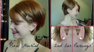 Pixie Haircut + 2nd Ear Piercings + People's Opinions!