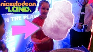 Nickelodeon Land Kids Fun and Making Candy Floss at the Fair Theme Park - Ruby Rube