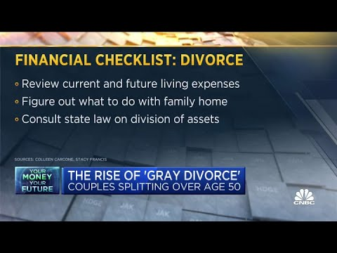 The rise of 'gray divorce,' as couples over age 50 split