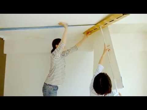 生のり付き壁紙の貼り方 -天井編ー 壁紙屋本舗 動画 ウォールペーパー