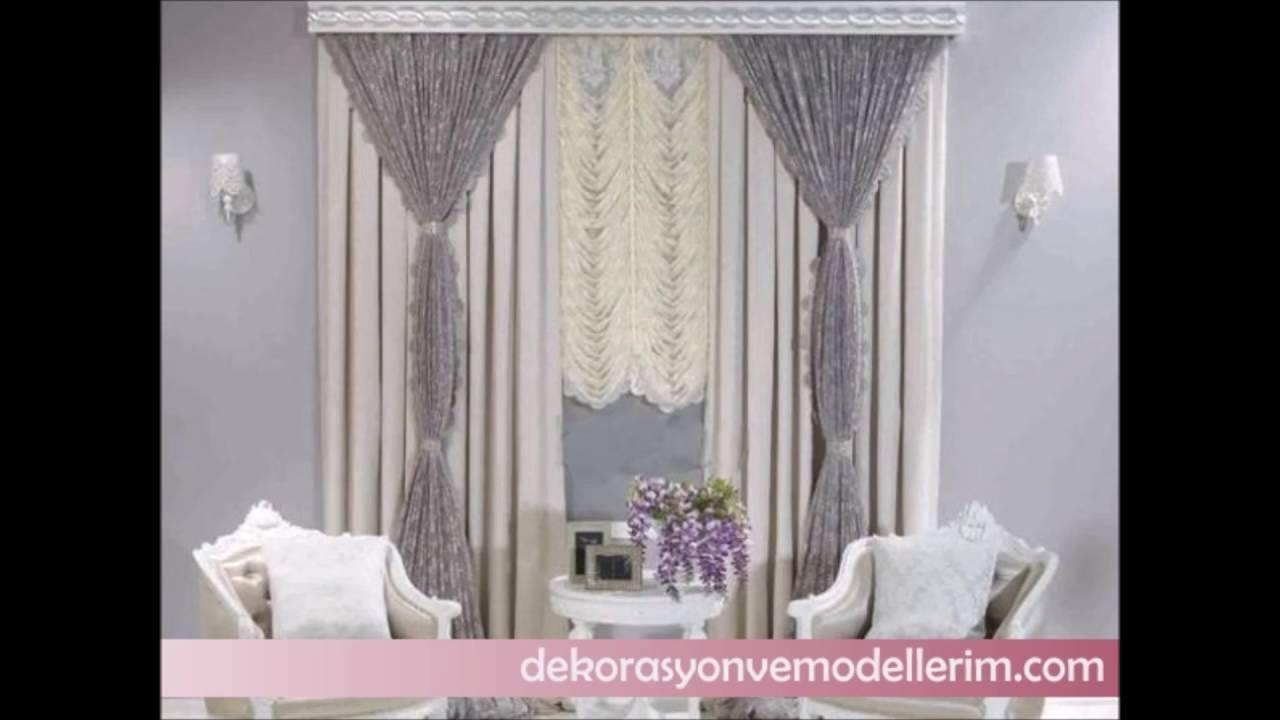 Salon için modern perde modelleri