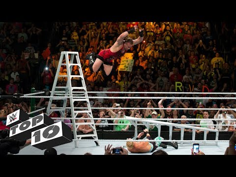 Thumbnail: Money in the Bank ladder leaps: WWE Top 10