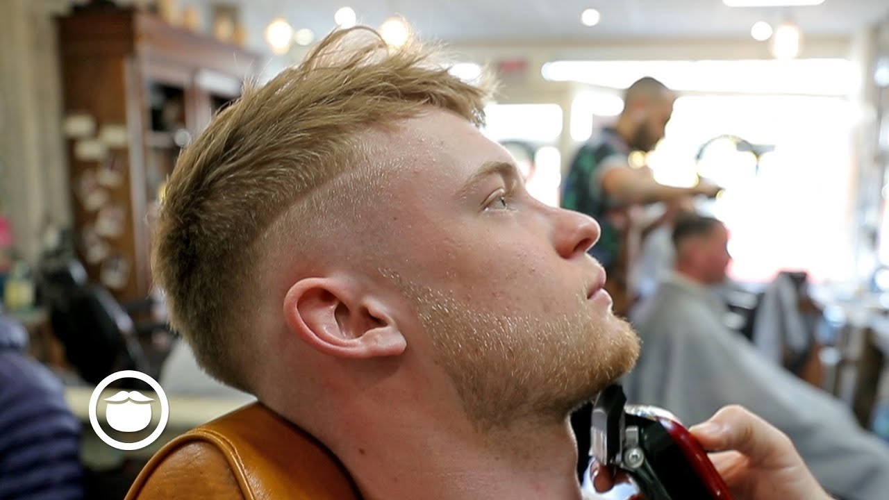 Soccer Player Gets Dope Haircut At The Barbershop Youtube