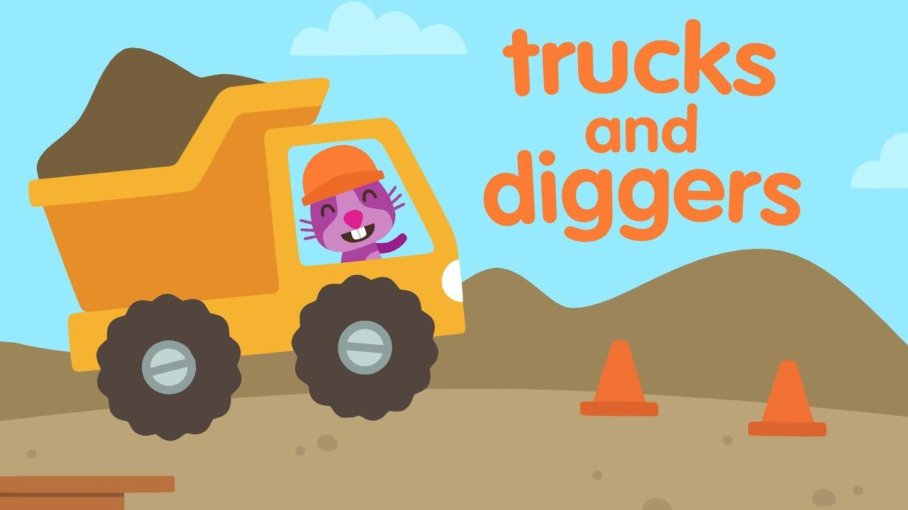 Sago Mini : Trucks & Diggers! Top Best Apps for Kids - YouTube