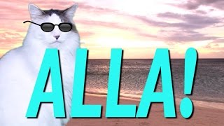 HAPPY BIRTHDAY ALLA! - EPIC CAT Happy Birthday Song
