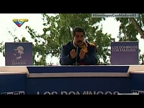 'Eleições já', pede Maduro