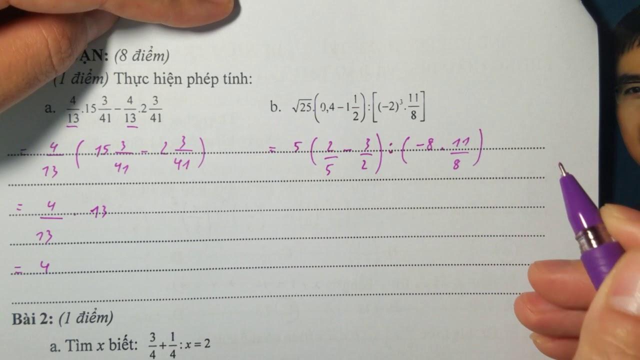 Chữa đề thi toán 7 HK 1 huyện Thanh Trì
