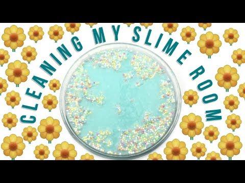 VLOG I Cleaning Slime Room