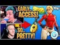 """Streamers GET & React to the *NEW* Starter Pack """"Laguna"""" Skin & """"Pineapple"""" Wrap! - Fortnite Moments"""