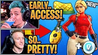 "Streamers GET & React to the *NEW* Starter Pack ""Laguna"" Skin & ""Pineapple"" Wrap! - Fortnite Moments"