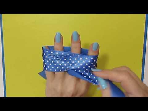 Сделать бант из бумажной ленты своими руками