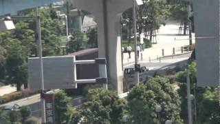 Ocean Container moves its way on road toward Tokyo Harbor, Sefco Japan 3p (2010)