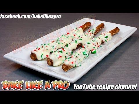 White Chocolate Peppermint Pretzel Rods Recipe