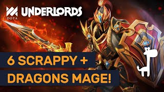 6 SCRAPPY DRAGON MAGE!! Dota Underlords DOUBLE DK LATE GAME?!