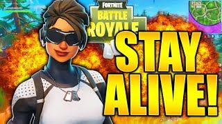 HOW TO STAY ALIVE IN FORTNITE HOW TO DIE LESS FORTNITE TIPS AND TRICKS HOW TO GET BETTER AT FORTNITE