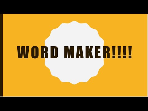 WORD MAKER!!!!! for kids.  3 letters word.