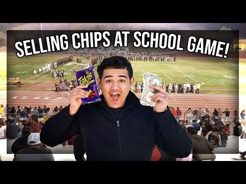 How I Sold Candy Chips at a School Football Game (Real Footage)