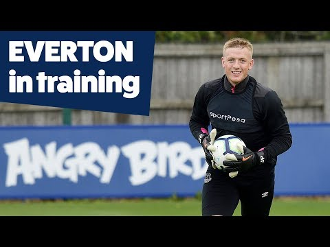 BERNARD, ZOUMA, PICKFORD IN TRAINING | FINISHING DRILLS