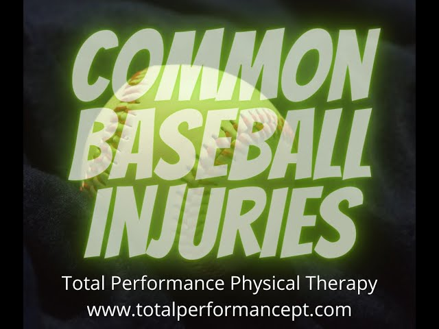 Common Baseball Injuries