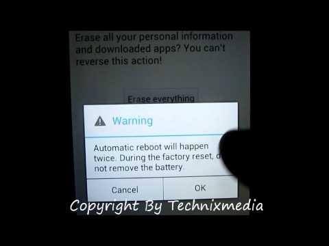Hard Reset LG Optimus 4x HD