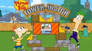 Phineas And Ferb: Tower-inator - Disable The Hidden Robots (Disney Games)
