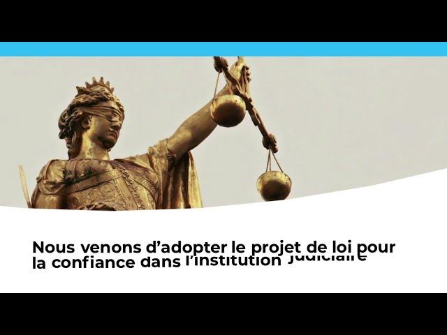 Adoption du projet de loi pour la confiance dans la justice