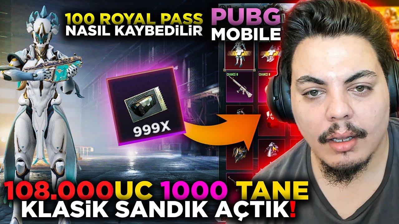 1000 TANE KLASİK SANDIK AÇTIM !! (108.000UC) Pubg Mobile