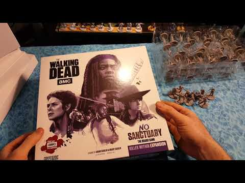 Walking dead No Sanctuary Game Unboxing kickstarter